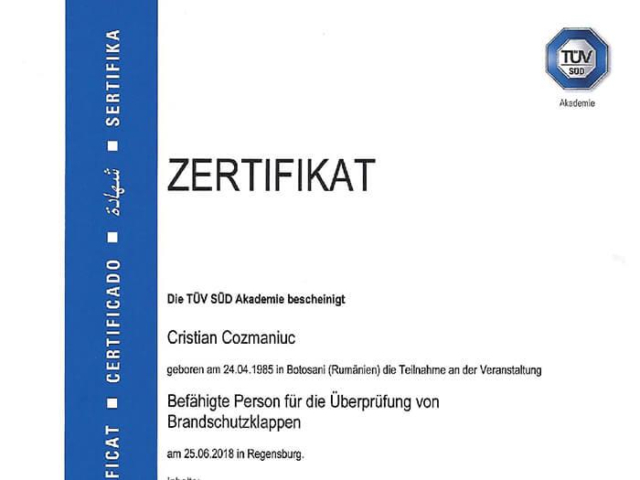 freshair crg brandschutzklappen zertifikat