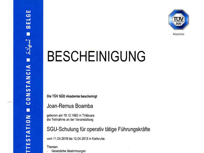 freshair crg sgu-bescheinigung zertifikat