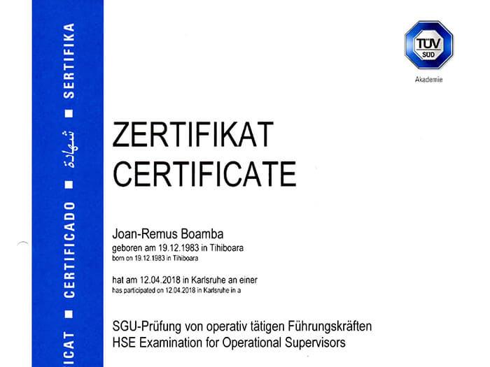 freshair crg sgu-prüfung zertifikat